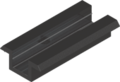 Aluminium zwart middenklem