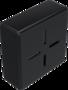 Kunststof eindkap zwart voor profiel 40x40
