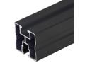 Aluminium montage profiel zwart 40x40 6,20 mtr